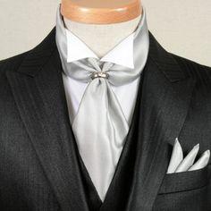 BIG Boys-Teens Dark Red Double Drop Ruche Wedding Tie-Cravat and Hankie Set