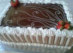 23 Ideas For Birthday Cake Decorating Tutorials Desserts Cake Decorating Piping, Birthday Cake Decorating, Cookie Decorating, Cake Decorating Techniques, Cake Decorating Tutorials, Birthday Sheet Cakes, Cake Birthday, Decoration Patisserie, Cake Shapes