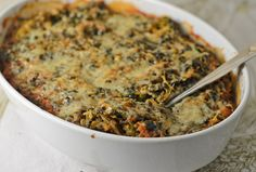 Spinach and Spaghetti Squash Casserole