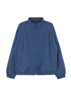 Protect your self from the harsh elements and top your casual outfit with a stylish protection: zip-up windbreaker! Designed with a high collar and has embroidered detail on the back, long sleeves with elasticized cuffs and hem plus two front pockets. Dur