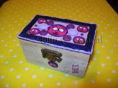 Polymer clay on wooden box!