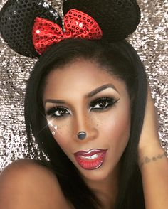 Minnie Mouse Halloween Makeup Tutorial - YouTube   watch me paint ...