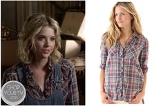 Shop Your Tv: Pretty Little Liars: Season 3 Episode 18 Hanna's Purple Plaid Top Pretty Little Liars Seasons, Striped Blazer, Other Outfits, College Fashion, Flare Skirt, Boss Lady, My Outfit, Plaid, How To Wear