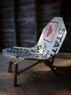 DIY Sign Chair