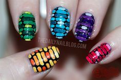 A Dash to the Finish Line (color) - Nail Art Gallery by nailsmag.com