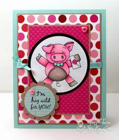 Cards by Kerry: Krafty Peeks - Love is in the Air!  Love is in the Air stamp set by Kraftin' Kimmie Stamps.