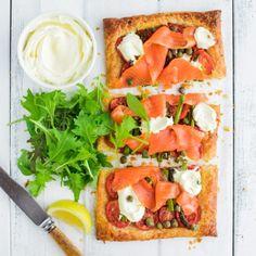 Asparagus, Tomato and Smoked Salmon Tart by Nadia Lim | NadiaLim.com