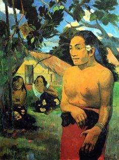Paul Gauguin - Post Impressionism - Tahiti - Où vas-tu?