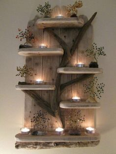 Amazing Fairy Tree Unique Driftwood Shelves Solid Rustic Shabby Chic Nautical #shabbychicchair