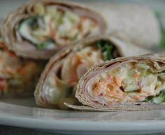Wrap med skinke og chrunchy fyll