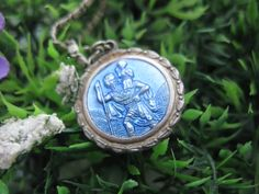 St Christopher - Saint Necklace - St Christopher Medal - Vintage St Christopher  - Patron Saint of Travel - Religious Medallion by MissieMooVintageRoom on Etsy