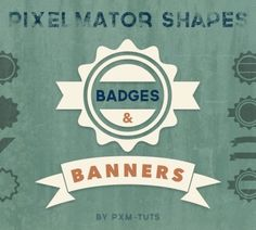 f66290928595c Badge   Banner Shapes for Pixelmator