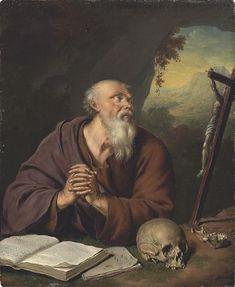 Willem van Mieris - Heilige Hiëronymus