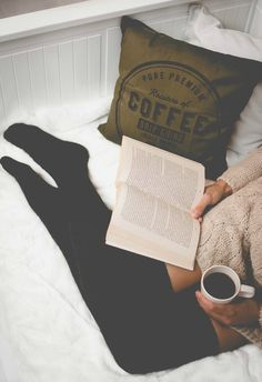 A good book and a cup of coffee is all you need