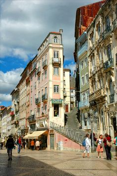Coimbra, baixa, street, Portugal, architecture, city, cityscape, urban, buildings,