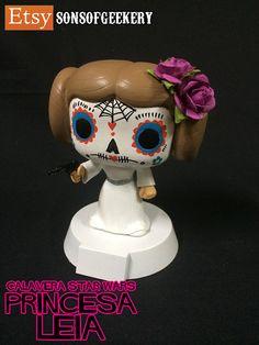 Calavera Star Wars Princesa Leia Custom Funko POP by SonsOfGeekery, $65.00