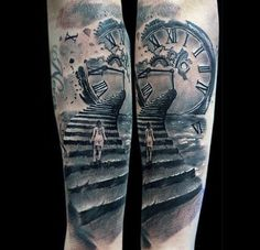 Clock Tattoo For Men