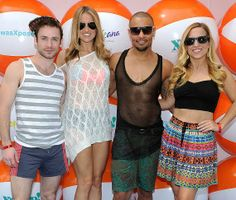 Rock of Ages cast at Xposed! in the Tropicana Beach Club at Tropicana Las Vegas (Photo credit: David Becker / WireImage)