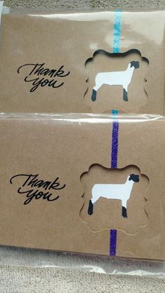 Show Lamb Thank You cards by TheBrandedBarn on Etsy