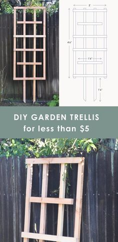 Easy Diy Trellis Tutorial For Your Garden For Less Than 5 Easy Diy Trellis Tutorial For Your Garden For Less Than 5 Hydrangea Treehouse Diy Trellis, Garden Trellis, Garden Beds, Garden Basket, Trellis Ideas, Herbs Garden, Easy Garden, Diy Design, Diy Garden Projects
