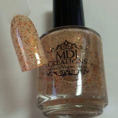 New! Prototype ~ microglitter with gold flakies and shimmer jelly base Indie Nail Polish by MDJ Creations by MDJCreations on Etsy
