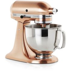 Crate & Barrel KitchenAid ® Copper Metallic Series Stand Mixer (€555) ❤ liked on Polyvore featuring home, kitchen & dining, small appliances, kitchen, kitchenaid heavy duty mixer, kitchen aid standing mixer, kitchen aid stand mixers, kitchenaid standmixer and kitchenaid small appliances