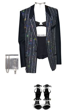 """""""Awards look"""" by styledbyluna ❤ liked on Polyvore featuring AllSaints, Yves Saint Laurent and Giuseppe Zanotti"""