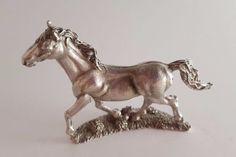 "Detailed Trotting Horse Figurine; Metal; 2"" x 2"" in Collectibles, Animals, Horses: Merch. & Memorabilia, Figurines 