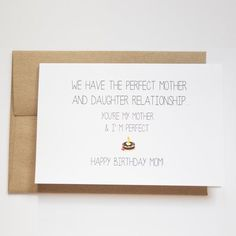 Mom Birthday Card Funny Cards For By ArtRuss