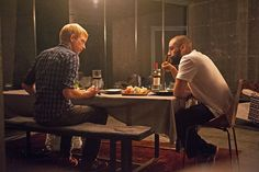 Caleb and Nathan chew over big ideas in a scene from Ex Machina. In terms of design and technology in the story we. Best Interior Paint, Interior Paint Colors, Ex Machina House, Saga, Cinema Times, Alex Garland, Decorating Apps, Interior Decorating, The Hallow