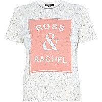 NEED THIS White Ross and Rachel print t-shirt