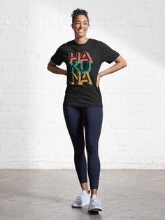 """Hakuna Matata"" Active T-Shirt. Popular Disney's Lion King T-shirt for everyday use. Nasa, Independance Day, Black Pride, Joe Biden, Red White Blue, Old Women, Black History, Chiffon Tops, Female Models"