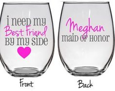 7 Will You Be My Maid Of Honor, Bridesmaid Proposal, Will You Be My Bridesmaid Wine Glass, Bridal Party Wine Glass,Personalized Bridal Party