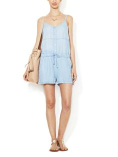Chambray Paneled Romper by Zoe & Sam on sale now on Gilt.