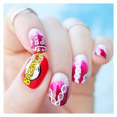 nail art Bazinga The Big Bang Theory