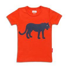 Kids T-shirt Black Panther - Cherry red