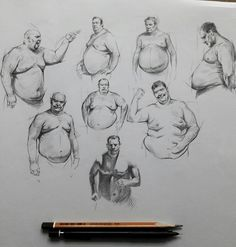 Figure sketches by Edizkan
