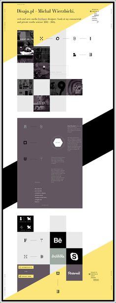 Disajn.pl 2014 - personal portfolio by Michal Wierzbicki, via Behance