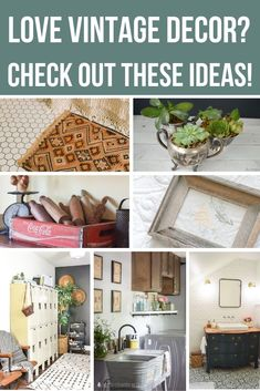 Check out these farmhouse style ideas of simple ways to incorporate antique decor into your home! There's ideas for the bedroom, kitchen, bathroom and living room. Antique Decor, Vintage Decor, Vintage Office, Farmhouse Style, Farmhouse Decor, Vintage Farmhouse, Upcycled Furniture, Painted Furniture, Decorating Your Home