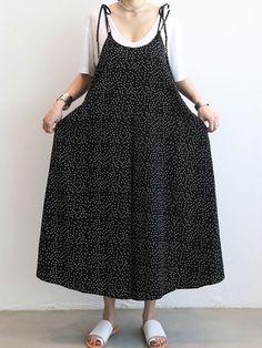 Hot-sale Casual Women Loose Dot Spaghetti Strap Jumpsuits - NewChic Mobile
