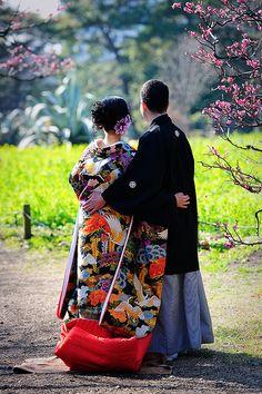 Hamarikyu Gardens, Tokyo By jamesjustin Japanese Beauty, Japanese Fashion, Asian Beauty, Judo, Karate, Wedding Kimono, Wedding Dress, Memoirs Of A Geisha, Japanese Wedding