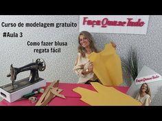 #Aula 3 - Como fazer molde de Blusa Regata DIY - YouTube