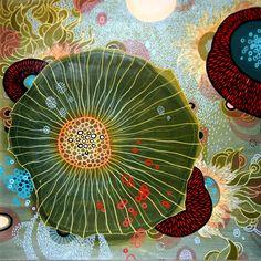 """Yellena James - """"Nimbus"""" - Acrylic on wood - 2008"""