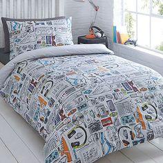 Ben de lisi home world print map bedding set at debenhams bluezoo kids white gadget duvet cover and pillow case set debenhams gumiabroncs Images