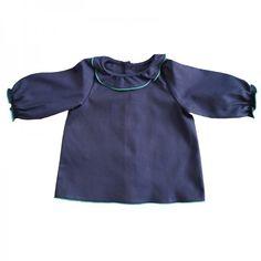 blouse JEANNE pour Les Trouvailles-devant-coton marine