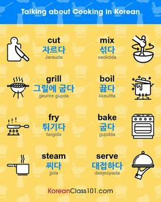 Korean - Cooking Terms