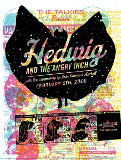 Cool Hedwig poster I bought at Amoeba records yesterday :)