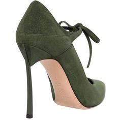 See this and similar Casadei pumps - 100mm Blade heel . Self tie closure . Pointed toe. Leather sole