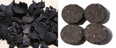 Charcoal from Carabao and Cow Dung, Coconut Shell and Corn Cob