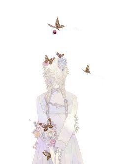 That Little Mori Girl Pretty Anime Girl, Anime Art Girl, Pretty Art, Cute Art, Dibujos Cute, Anime Love Couple, Anime Angel, Elements Of Art, Anime Style